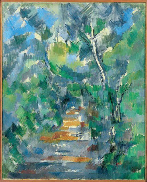 Paul Cézanne, Sous-bois (Chemin du Mas Jolie au Château noir)(Forest Scene, Path from Mas Jolie to Château noir) (1900-02)