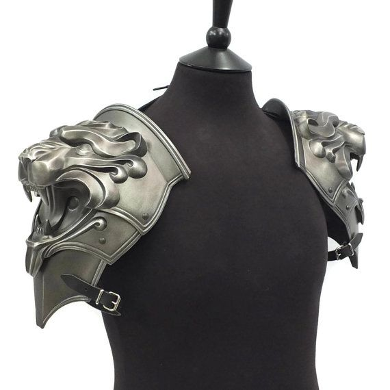 Medieval Armor Leather Shoulder articulated pauldron cosplay genuine viking