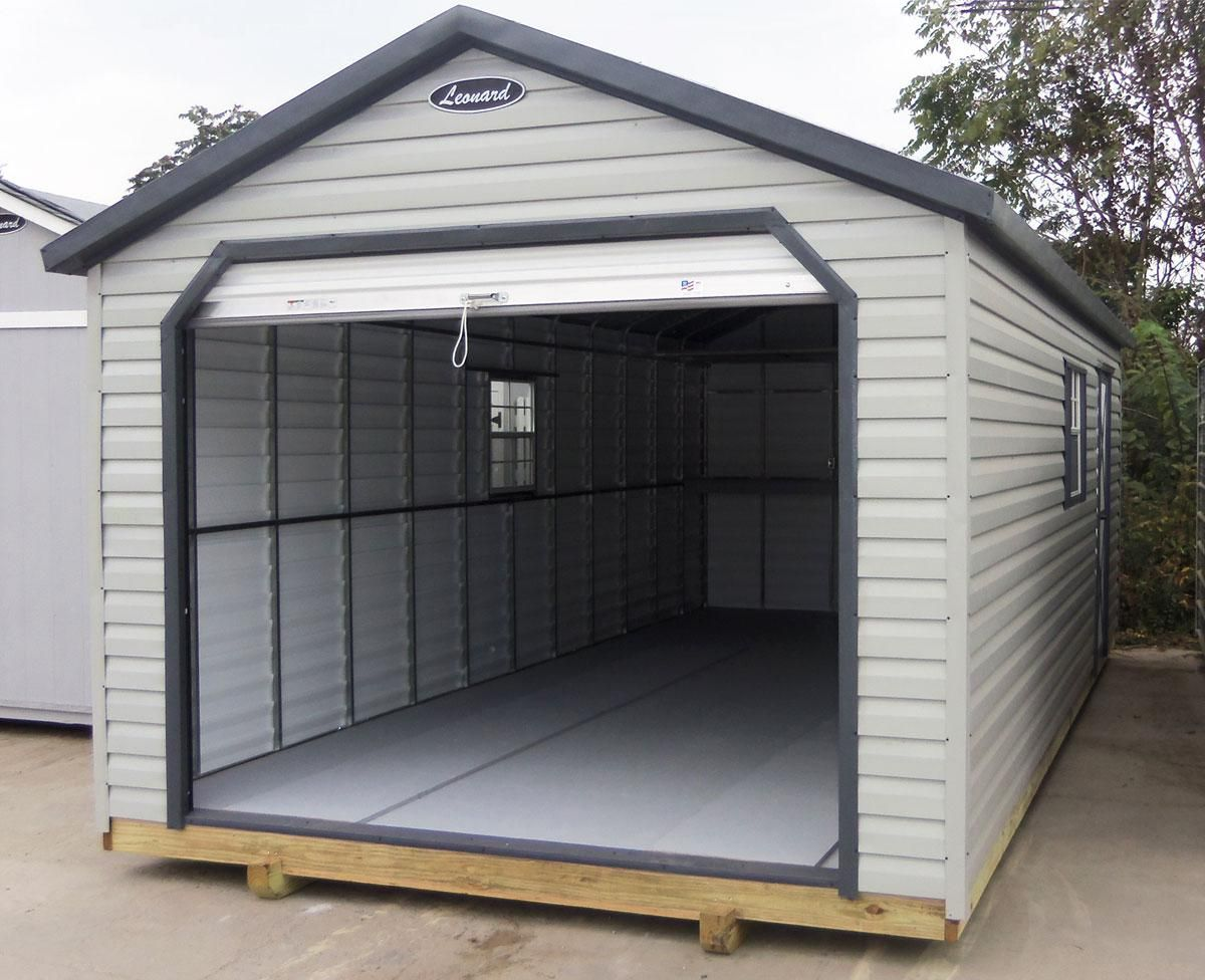 Steel Frame Building Kits : Leonard steel frame lap metal sided storage building