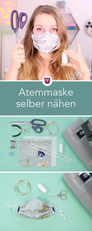 Atemschutzmaske / Mundschutz selber nähen DIY Eule in