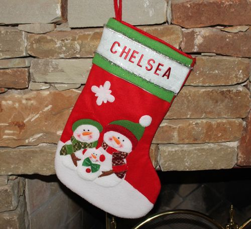 Letter Christmas Stockings.Iron On Letters Christmas Stocking Joy Design Team Embroidered