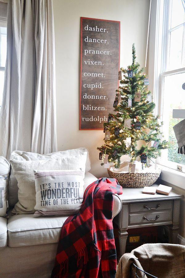 Diy Christmas Reindeer Sign Christmas Decorations Apartment Christmas Wall Decor Christmas Apartment Living room with christmas tree