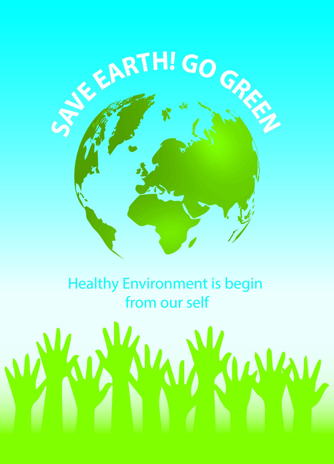 Poster design on environment - Health Environment Sample Poster Design
