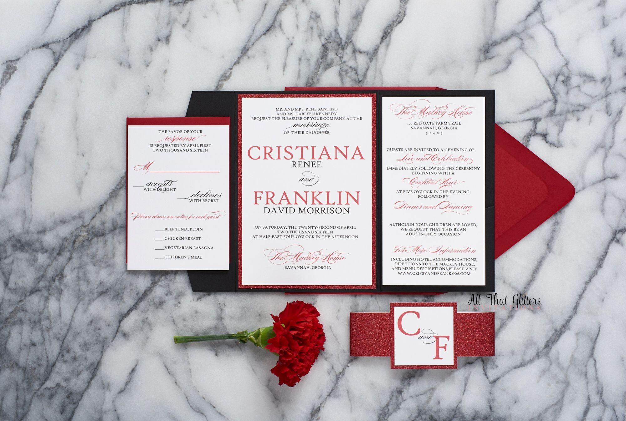 Cristiana Red Wedding Red Wedding Invitations And Elegant Wedding