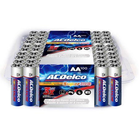 Acdelco Super Alkaline Aa Batteries 100 Count Walmart Com Alkaline Battery Acdelco Aa Batteries