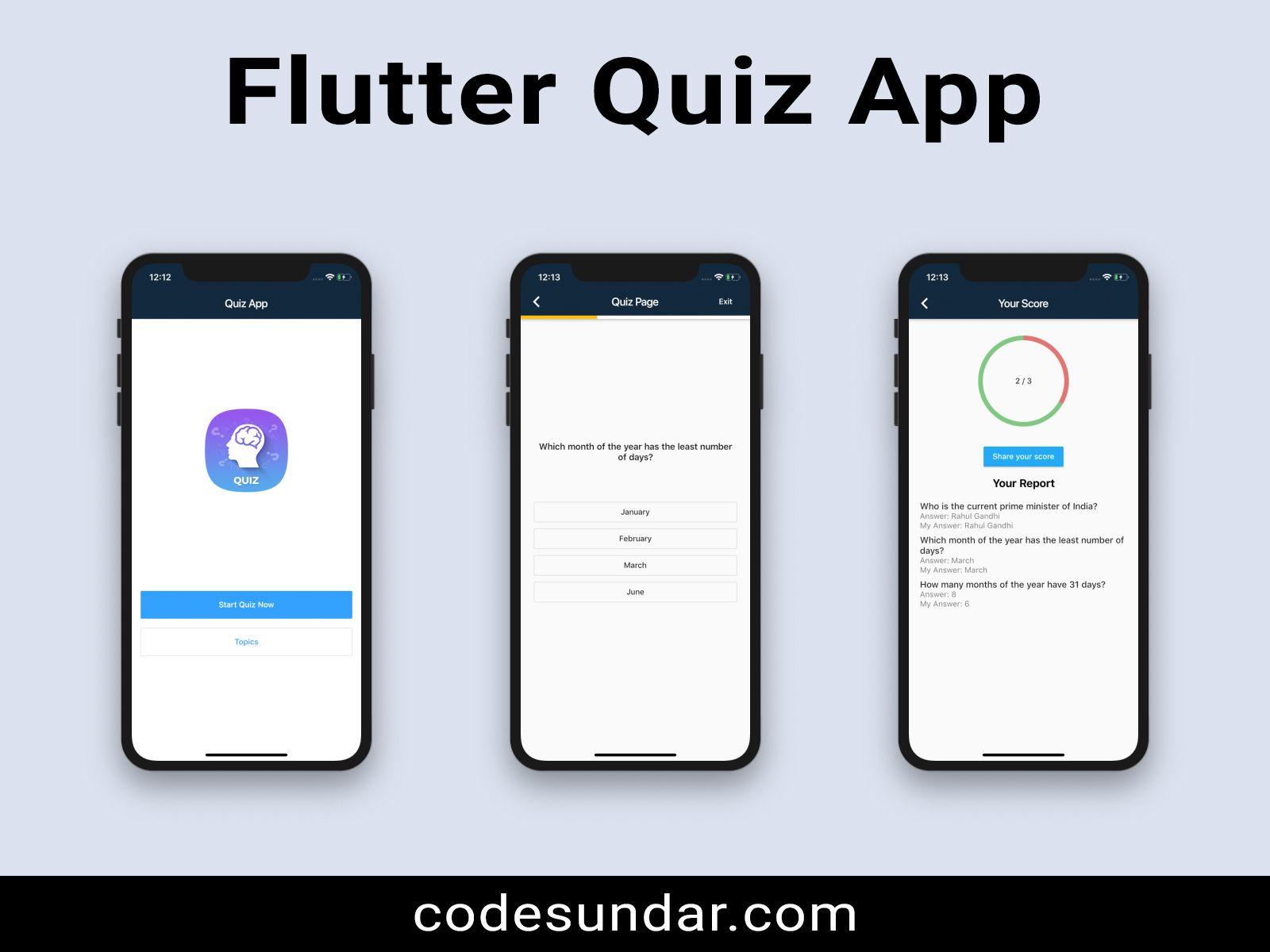 Flutter Quiz App With Backend Php Mysql Mythemebox App Quiz Backend
