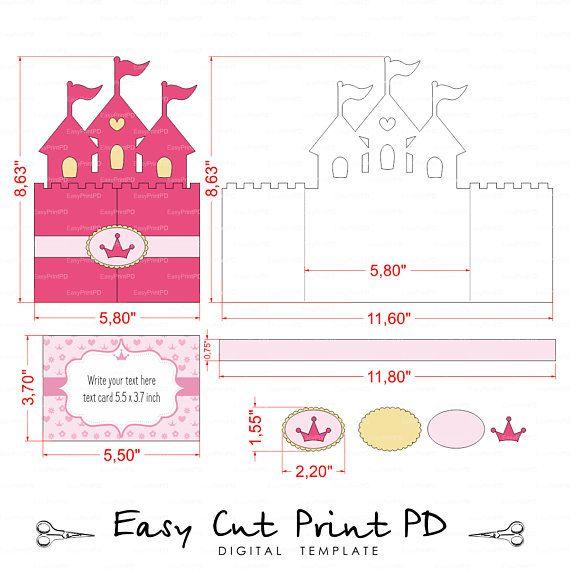 Princess Castle Invitation SVG File Cinderella Svg