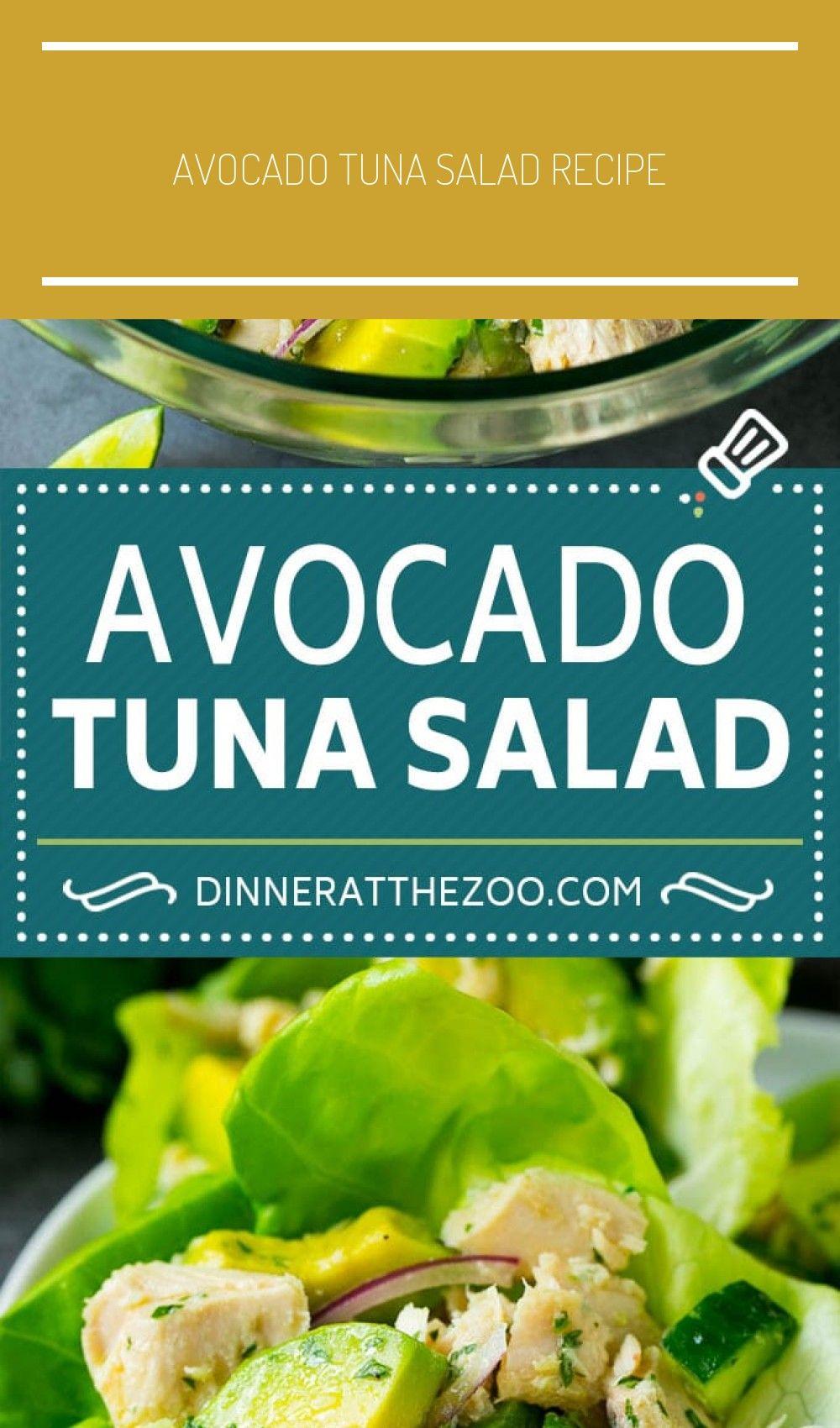 Avocado Tuna Salad Recipe | Avocado Salad  - Dinner at the Zoo Recipes - salad salmon