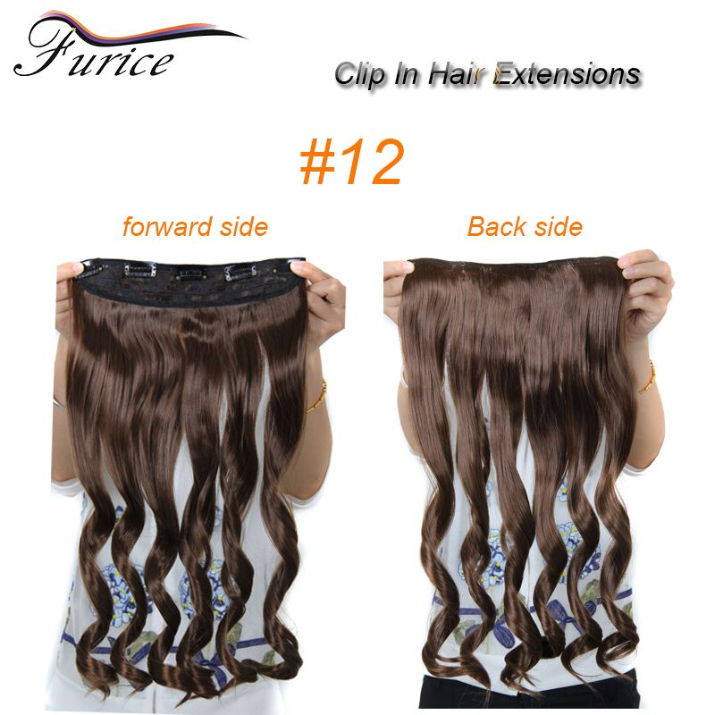 Aliexpress Buy 25inch 5 Clips In Hair Extension Long Fake Hair