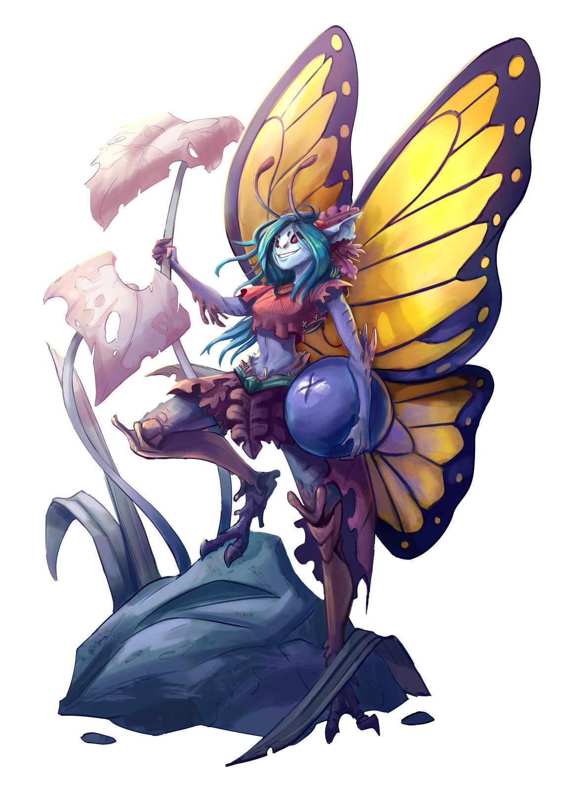Feywild Fairy, Martin Kirby on ArtStation at https://www.artstation.com/artwork/9o84q