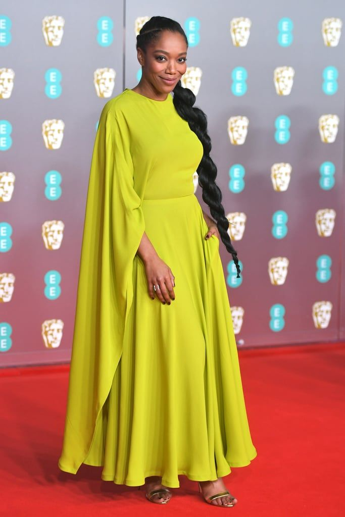 Naomi Ackie At The 2020 British Academy Film Awards In 2020 With Images Nice Dresses Celebrity Dresses Christian Dior Gowns