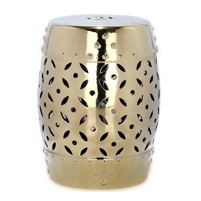 Safavieh Garden Stool Acs4510 Lattice Coin Ceramic