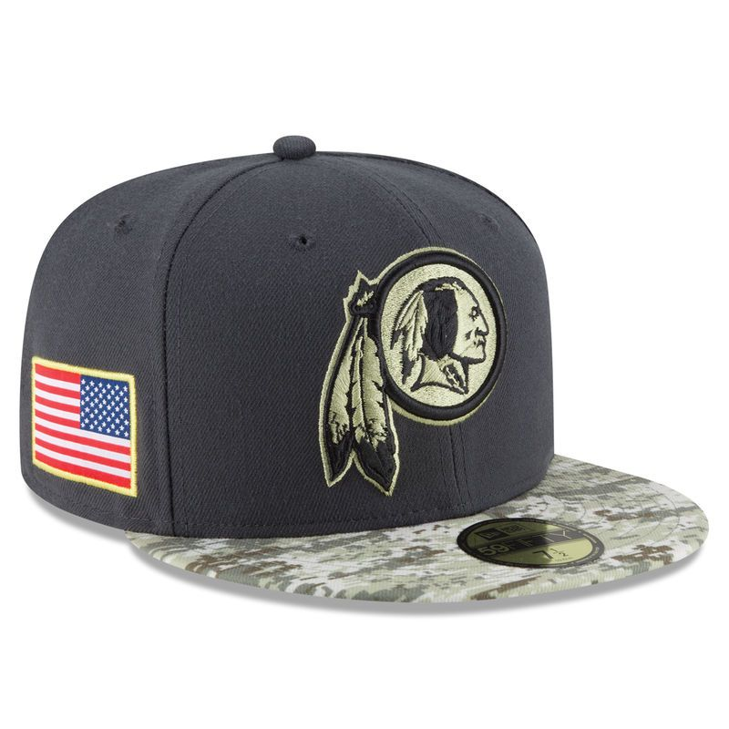 Washington Redskins New Era Youth Salute To Service Sideline 59FIFTY Fitted  Hat - Graphite Camo 129690725