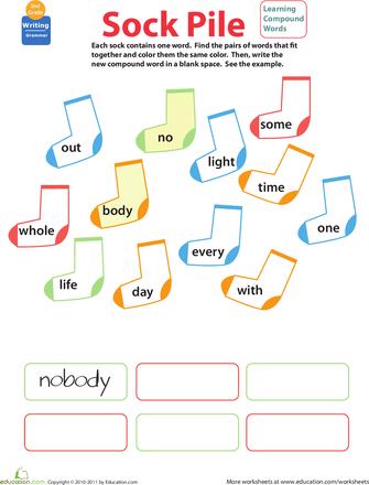 compound words worksheet grade 1 pdf