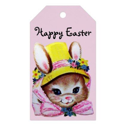 Retrovintage easter gift tags negle Choice Image