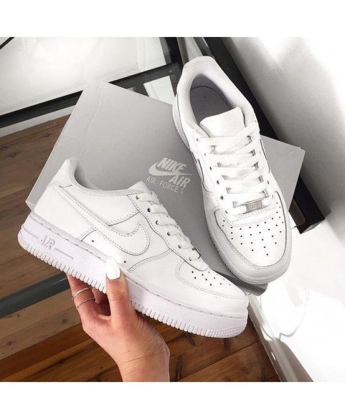 6601bc229cbe Nike Air Force 1 Low All White Shoes UK Sale