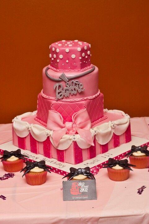 4 Tier Barbie Cake Birthday Theme 18th
