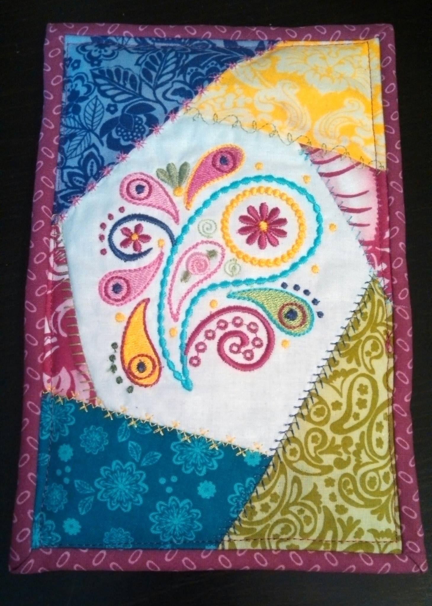Wondering how to use our Crazy for Paisley designs? http://bit.ly/1gC35LN Dee Dee made this super sweet crazy quilt greeting card for her mom!