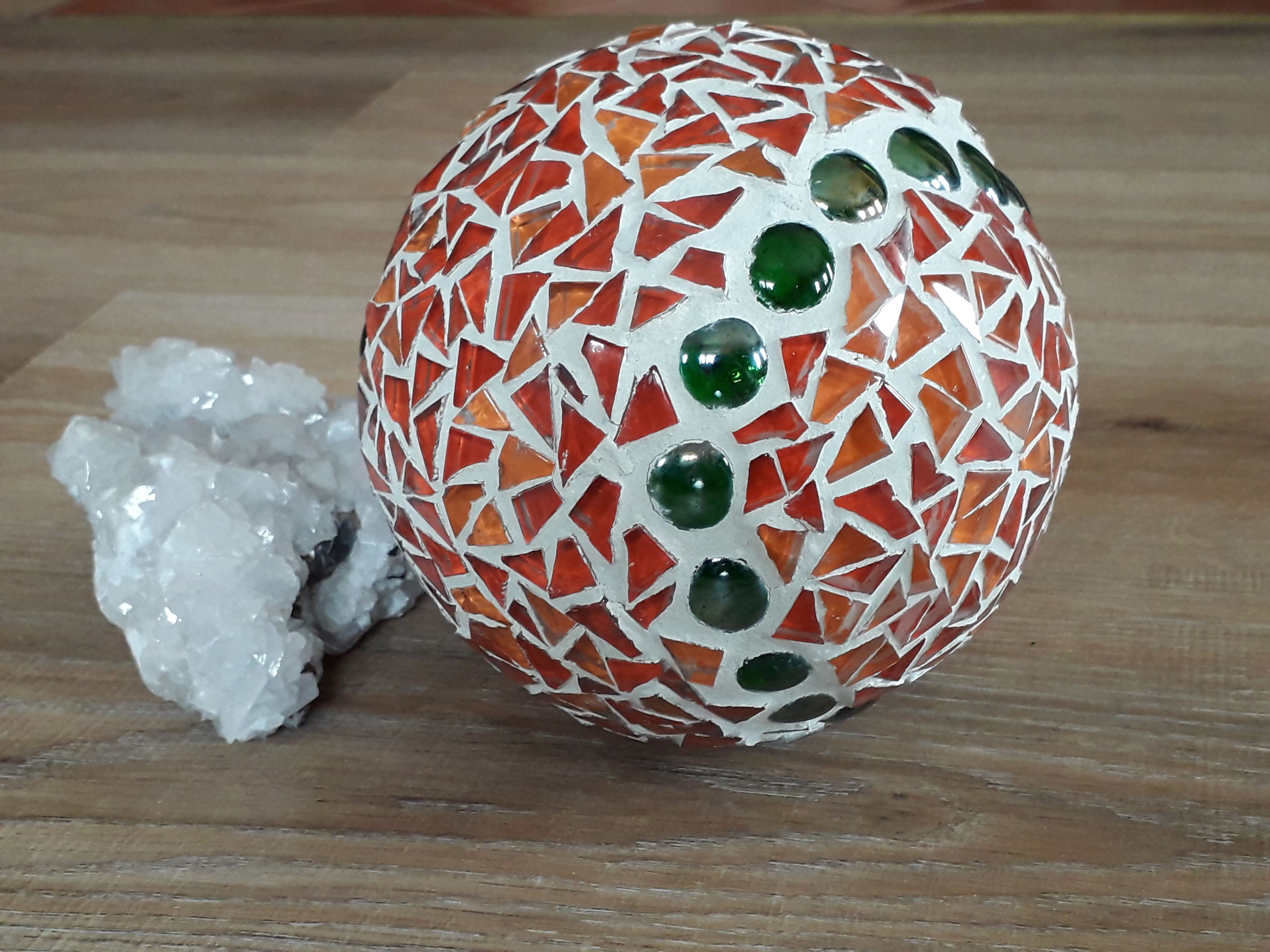 Mosaic Glass Ball Mosaic Garden Decor Decorative Ball Mosaic Gazing Ball Garden Ball Garden Art Upcycled Garden Art Mosaic Garden Mosaic Glass Garden Balls
