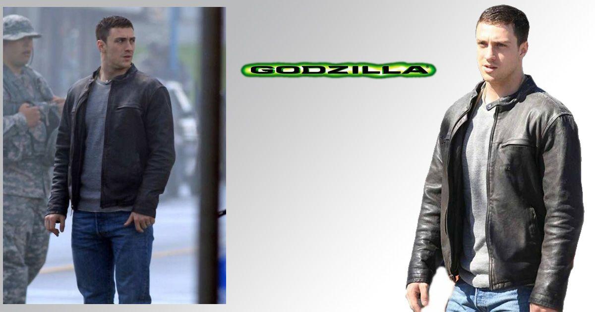 Godzilla Aaron Taylor-Johnson Leather Jacket (With images ...