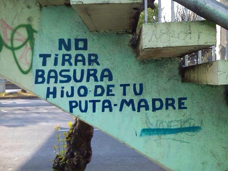 No Tirar Basura Letreros
