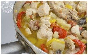 Bocconcini di pollo e coniglio alle verdure - nonsolopiccante.it