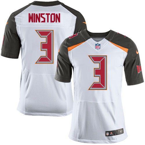 Nike Elite Jameis Winston White Men s Jersey - Tampa Bay Buccaneers  3 NFL  Road 4041746f4