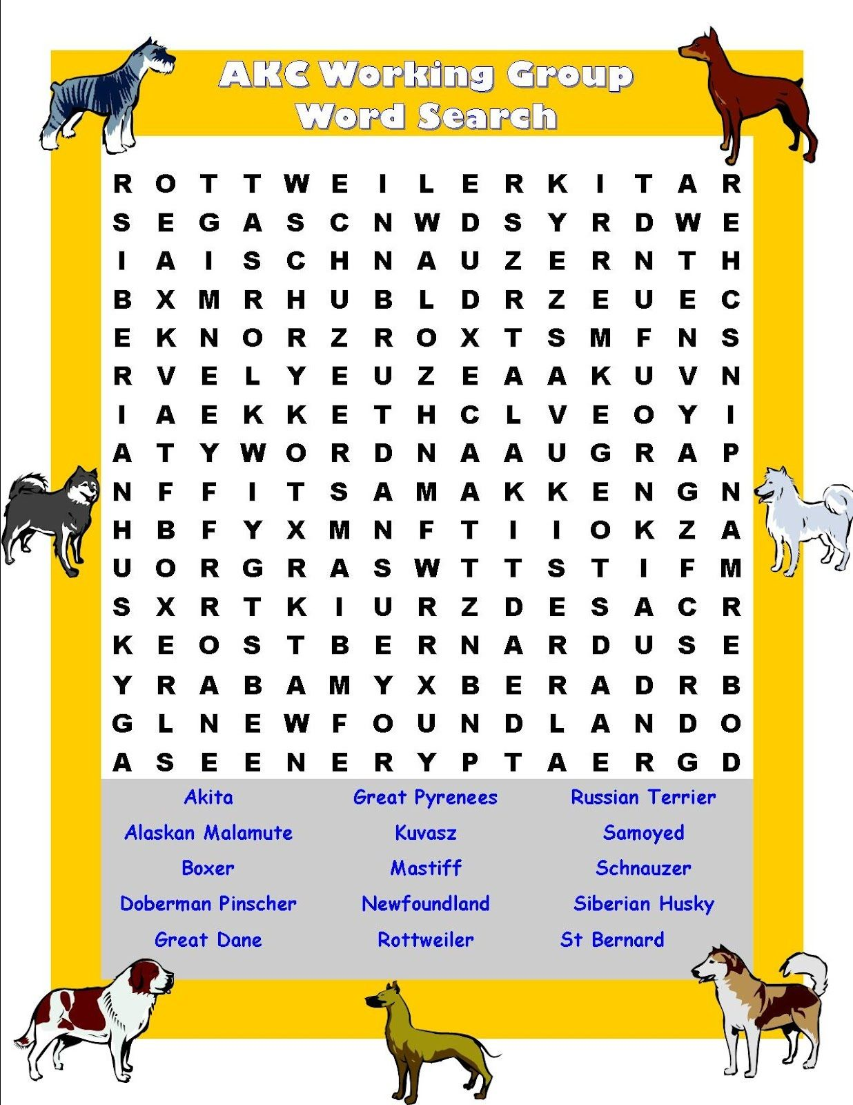 Pet Word Search For Animal Lovers