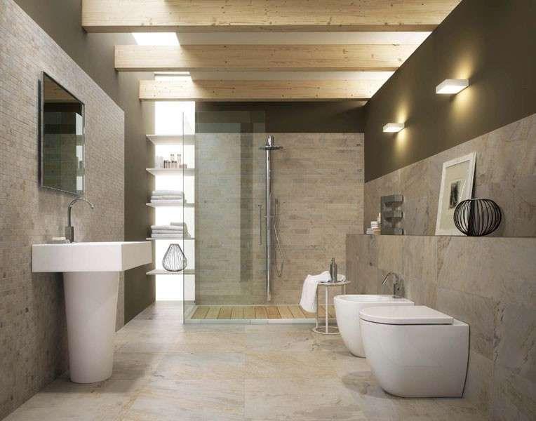 Finestra bagno ~ Finta finestra illuminata lunga bagno in stile moderno g