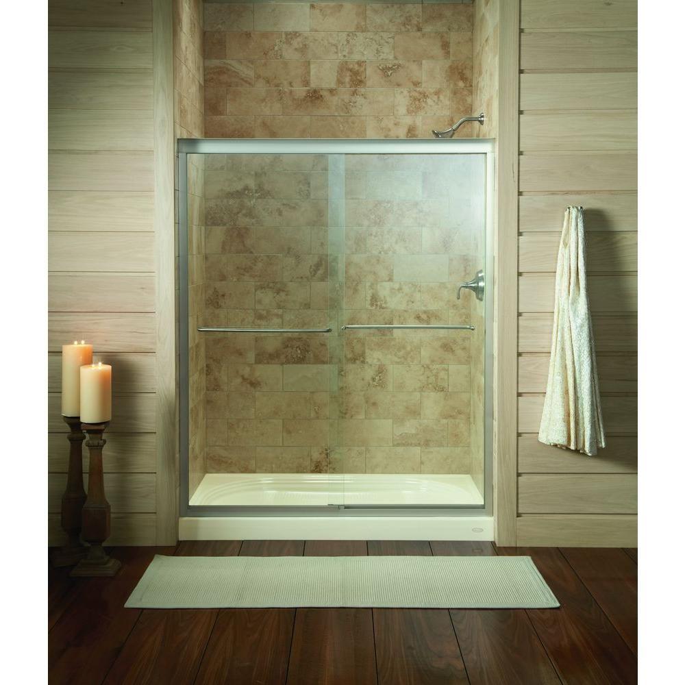 KOHLER Fluence 59-5/8 in. x 70-5/16 in. Semi-Framed Sliding Shower ...