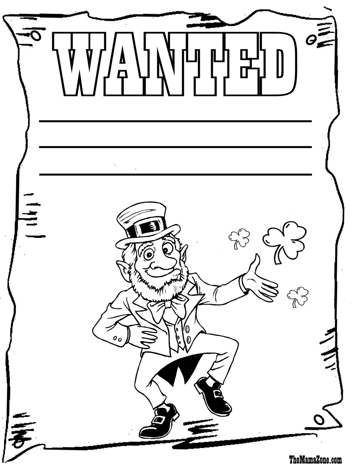 Saint Patrick S Day Coloring Pages The Mama Zone Halloween Coloring Pages Halloween Coloring Coloring Pages [ 1500 x 1125 Pixel ]