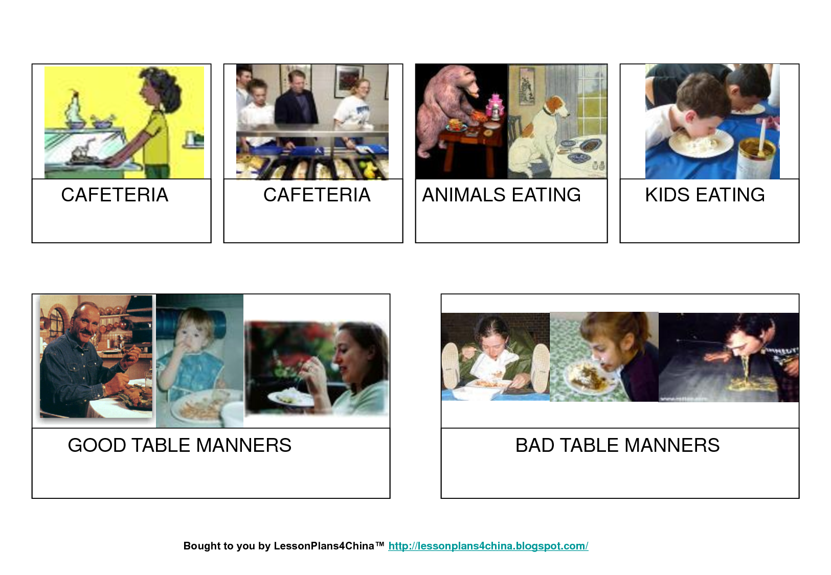 Table Manners For Kids Printable