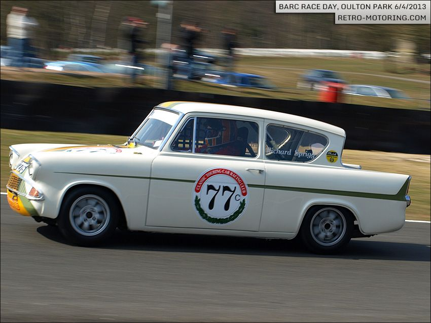 Car 77 Richard Sprigg Ford Anglia 105e Ford Anglia
