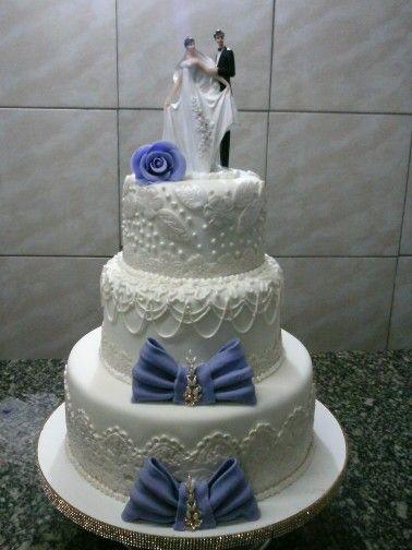 Bolo Casamento Gleciane