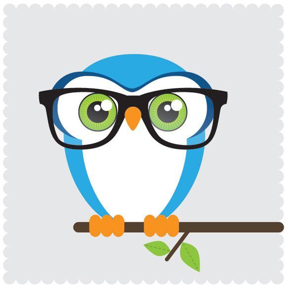 'Owl With Glasses' By Linnea Ferreira @ Www.thatswede.com