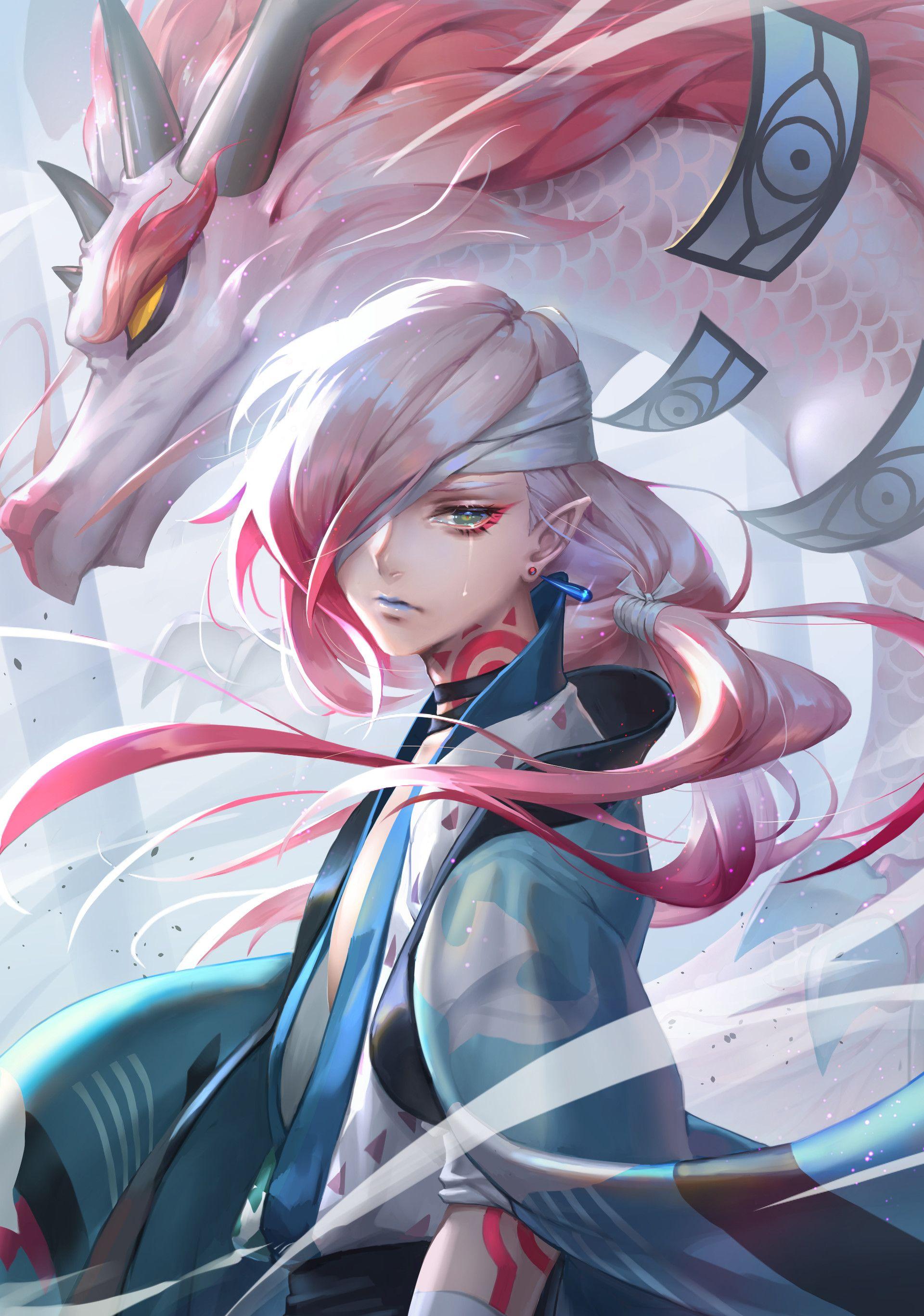 ArtStation Gone with the wind, Demeter Wu Anime art