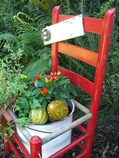 Chair planter (from Cherry Hill Cottage)