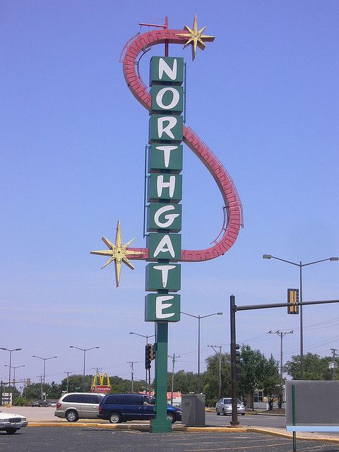 Northgate Shopping Center Sign - Aurora Illinois in 2019 | The Good