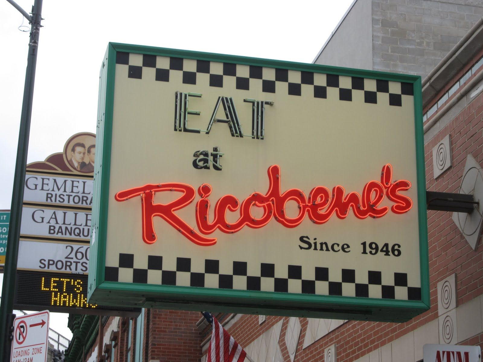 Ricobene S Sign Jpg Image Chicago Restaurants Chicago Illinois Chicago History