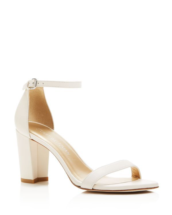cb8fd83429 Stuart Weitzman Nearlynude Nappa Leather Ankle Strap High Heel Sandals