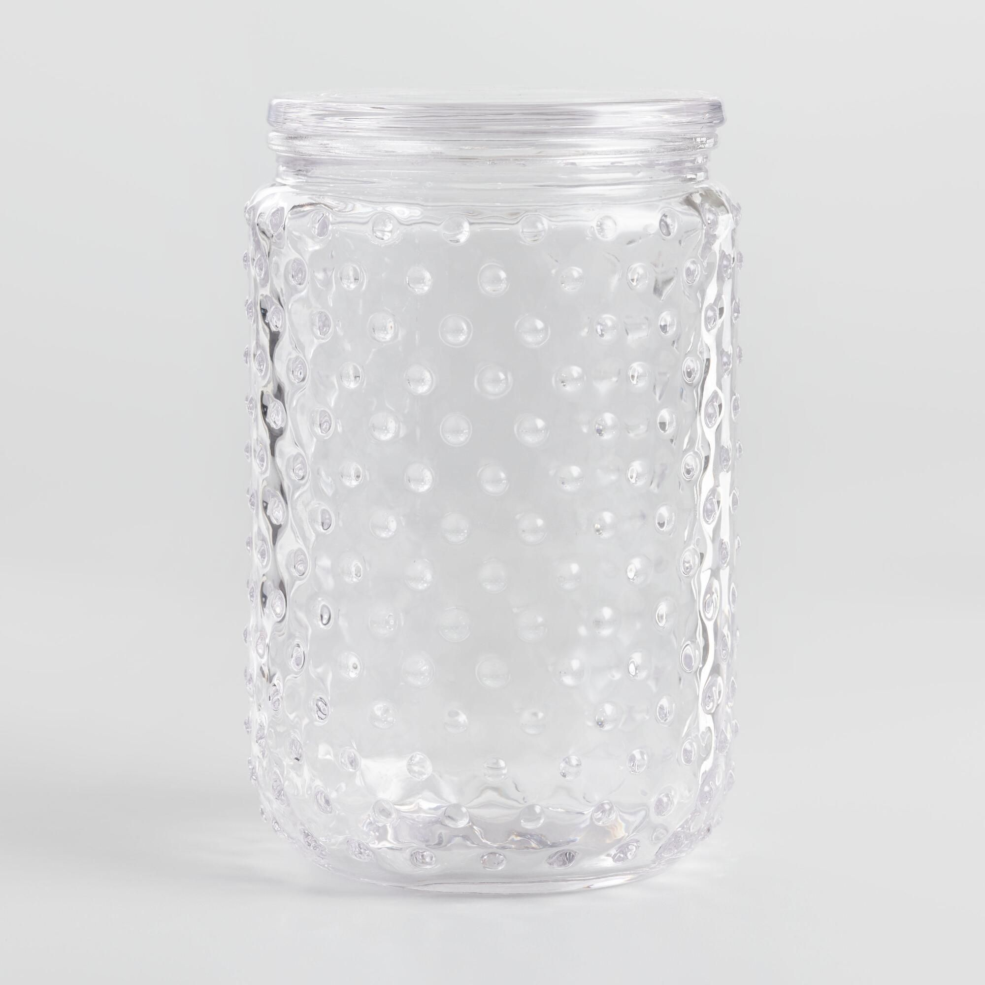 Large Hobnail Glass Canister By World Market