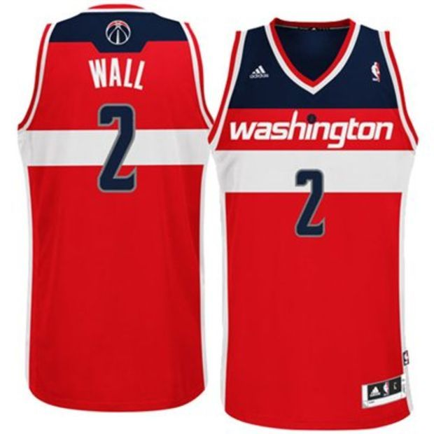 size 40 55f2b 8e76c Mens Washington Wizards John Wall adidas Red Swingman Road ...