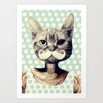 Kitten Art Print by Zumzzet - $19.00