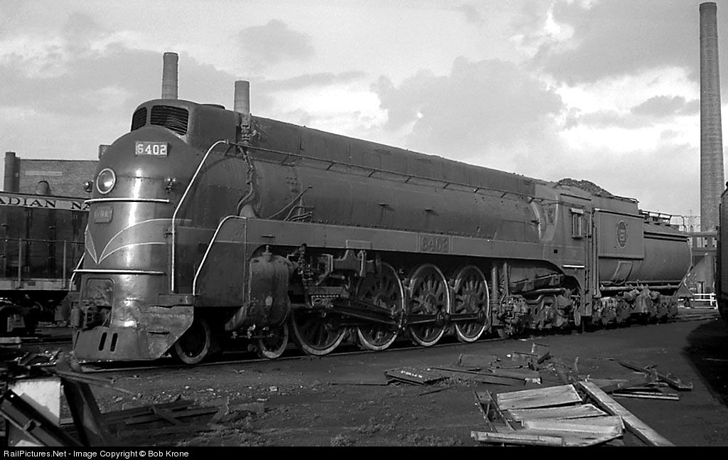 Canadian National U 4 A 6402 Is Stored Servicable At The Railroad S Large Engine Terminal In Toronto It Had Recently Bee Canadian National Railway Train Steam