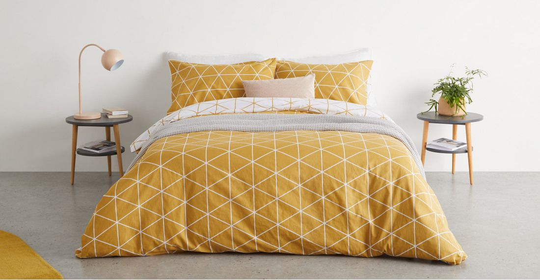 Double Mustard Gold 100/% Egyptian Cotton Printed Duvet Cover Sets Bedding Sets