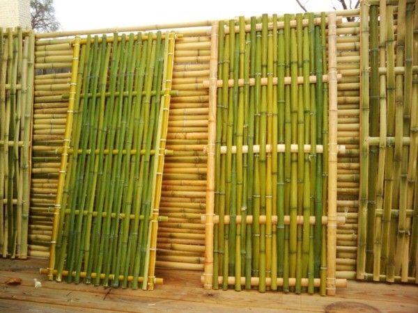 Mobilier en bambou bambou bambou d co tribus de cl ture - Cloture en bambou ...