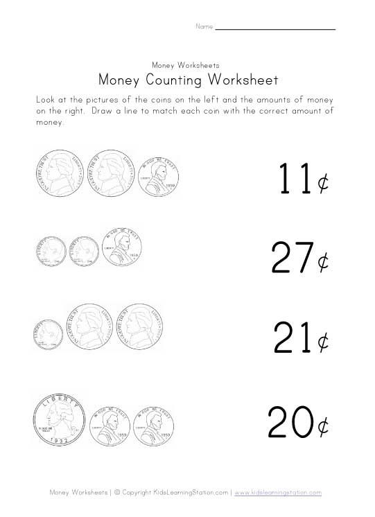 Pre K Counting Money Worksheets Worksheet Kids – Money Worksheet for Kindergarten
