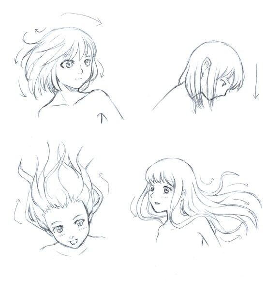 Super Hair Drawing Reference Flowing Ideas Anime Drawings Tutorials Art Reference Poses Manga Drawing