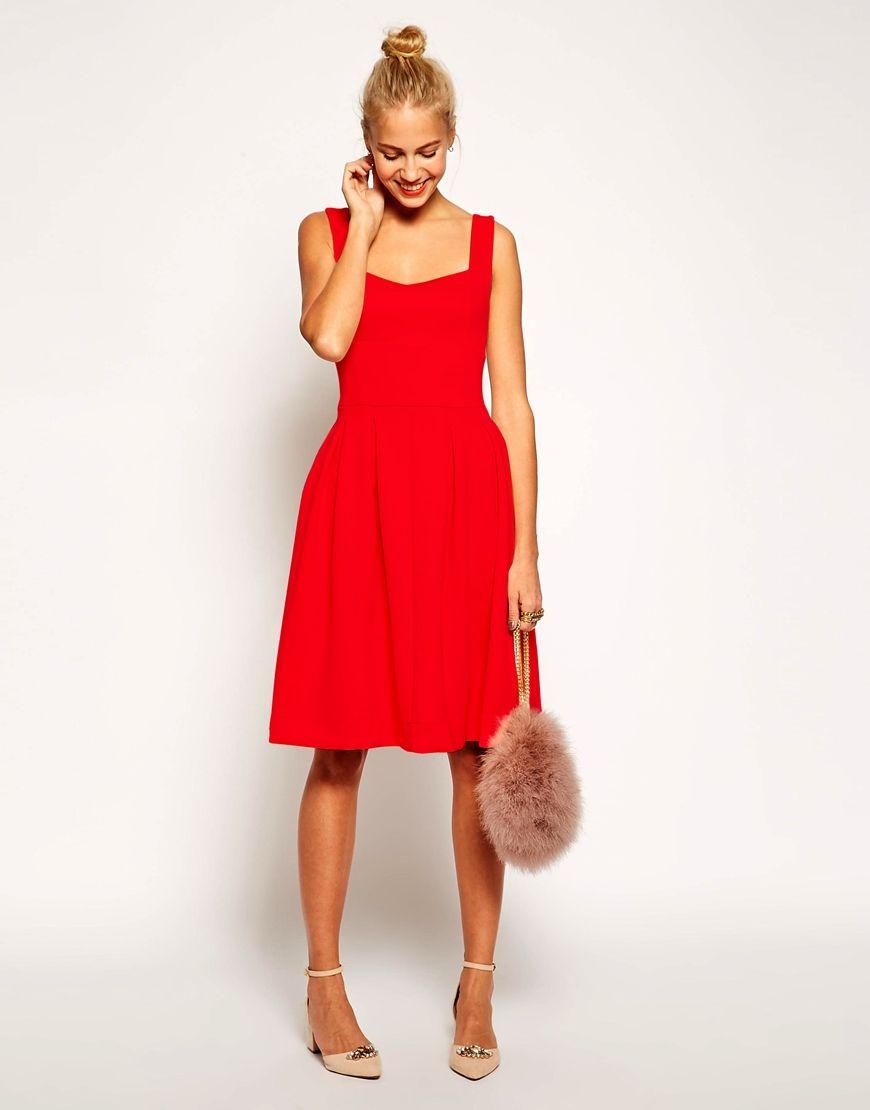 Image 4 ofASOS Sleeveless Debutante Midi Dress