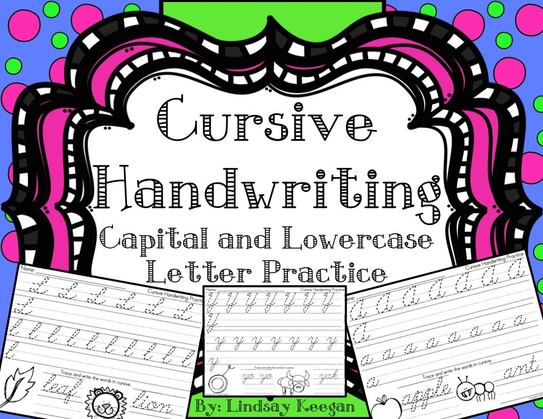 Alphabet Cursive Handwriting Practice For Capital And